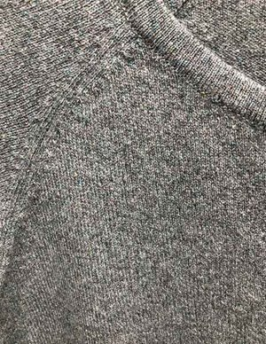 Jumper 1234 lurex shrunken cardigan - grey model