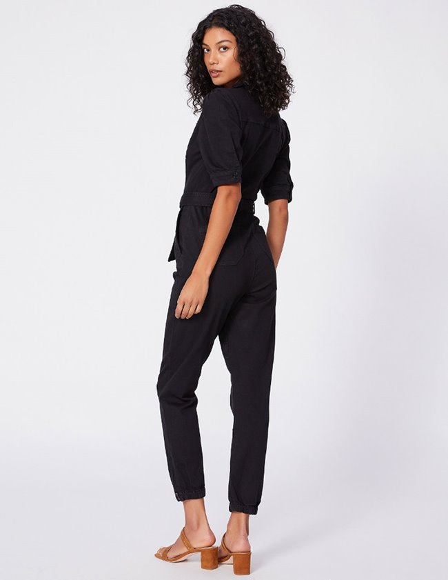 Paige mayslie jumpsuit - washed black detail