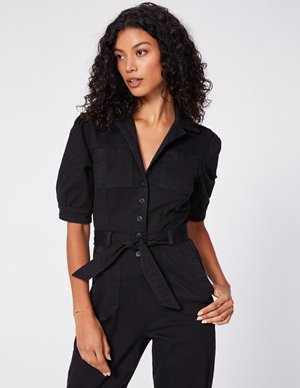 Paige mayslie jumpsuit - washed black back