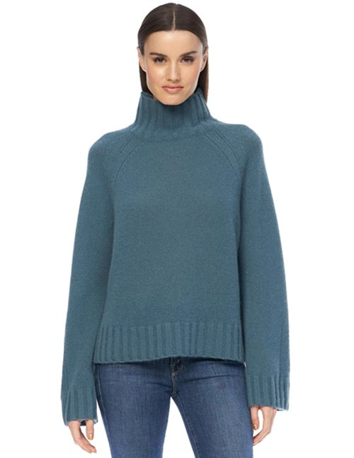 360 Cashmere leighton jumper - teal