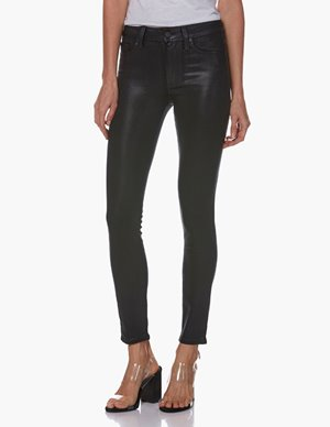 Paige hoxton skinny ankle jeans - black fog luxe coating