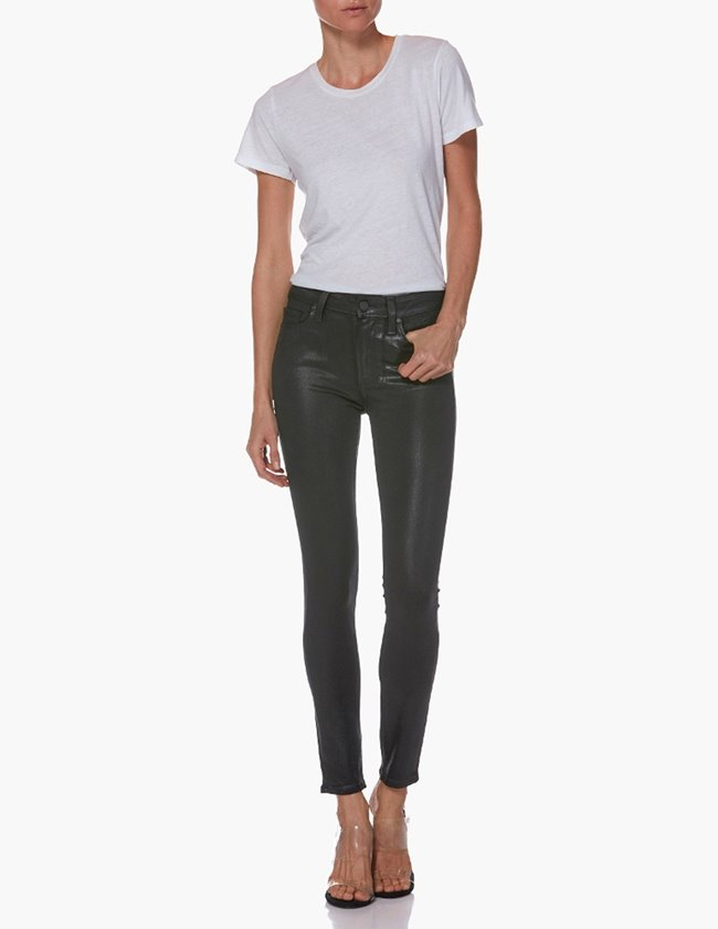 Paige hoxton skinny ankle jeans - black fog luxe coating back