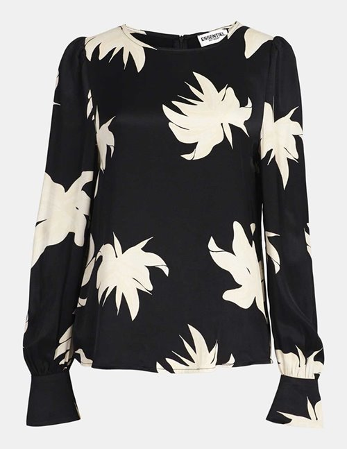 Essentiel Antwerp wadam top - black / white