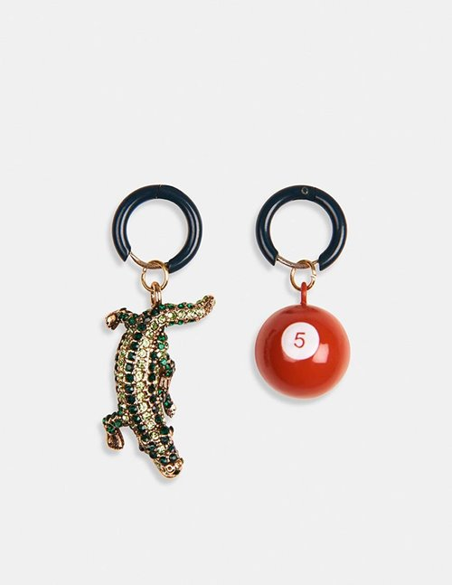 Essentiel Antwerp wocodile earrings - crocodile combo