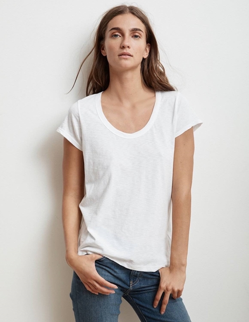 katie03 city slub tee - white