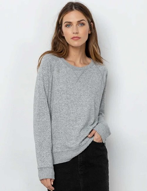 Rails callahan jumper - melange grey