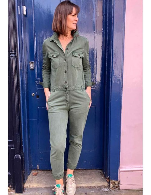 Hartford party jumpsuit - army