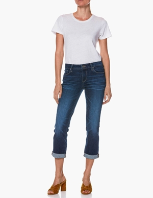 brigitte ankle boyfriend jeans - enchant blue back