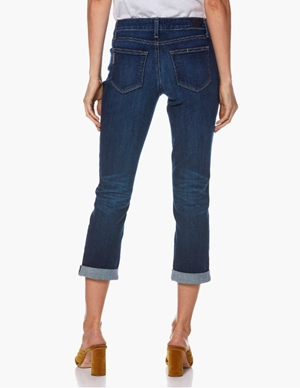 brigitte ankle boyfriend jeans - enchant blue detail