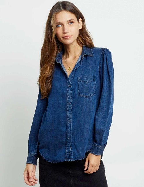 Rails madelyn denim shirt - dark vintage