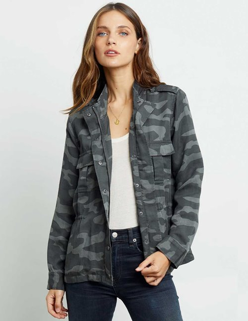 Rails trey jacket - charcoal camo