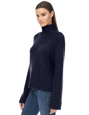 360 Cashmere leighton jumper - navy back
