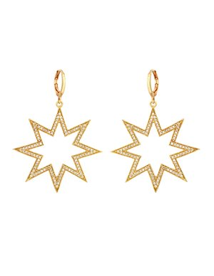 I am Jai e1621c zircon star earrings