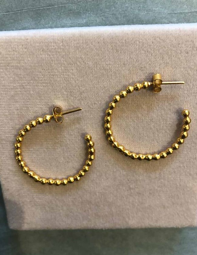 I am Jai e1647b small bobbly hoop earrings