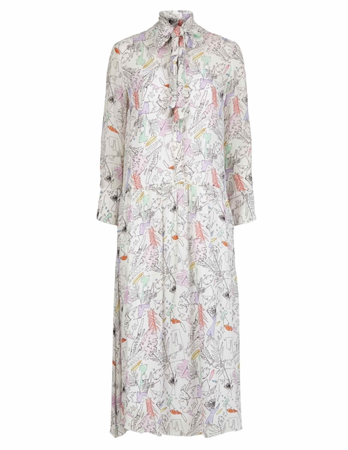 anya silk dress - artist floral