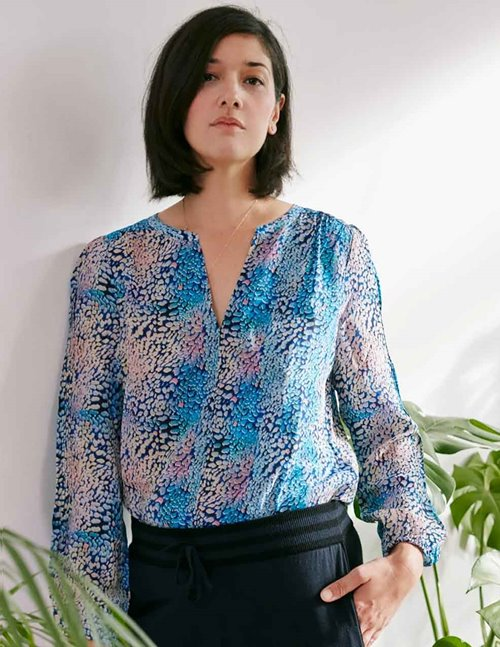 Pyrus jamie blouse - iridescent animal print