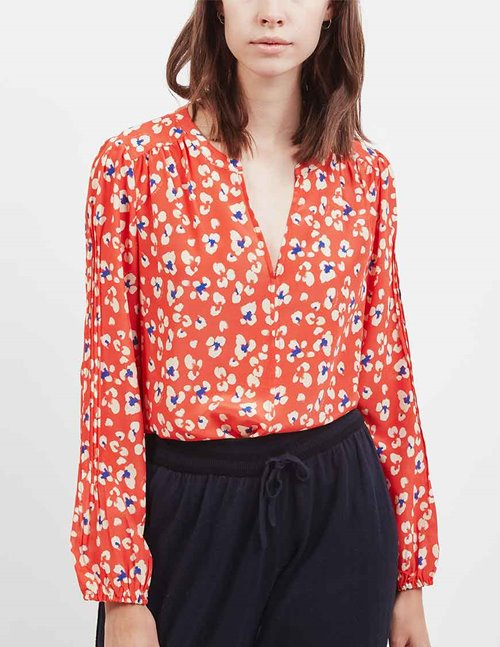 Pyrus jamie blouse - red animal print
