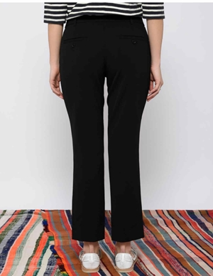 Leon & Harper Palmora Straight Black Trousers side