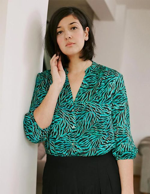 Pyrus solace blouse - geo animal