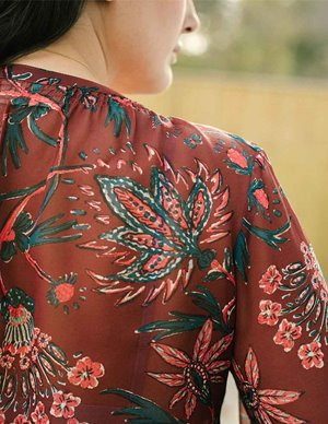 Pyrus arlo blouse - indian chintz model