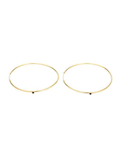 Une A Une bocgn large hoop earrings - gold / black
