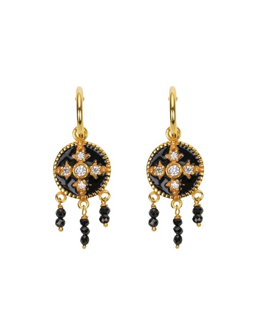 Une A Une bombb medieval baroque earrings - gold / black