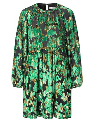 Stine Goya sienna dress - green velvet jacquard back