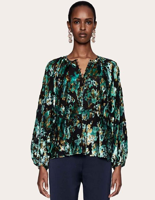 Stine Goya chris blouse - velvet green